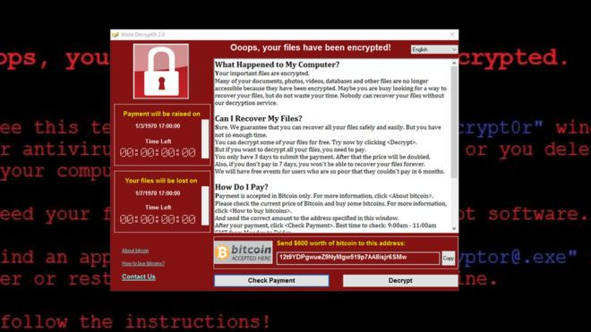 the ransomware WannaCry spread