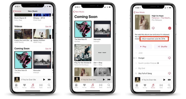 Apple Music will Get Update Soon with 'Coming Soon' Section