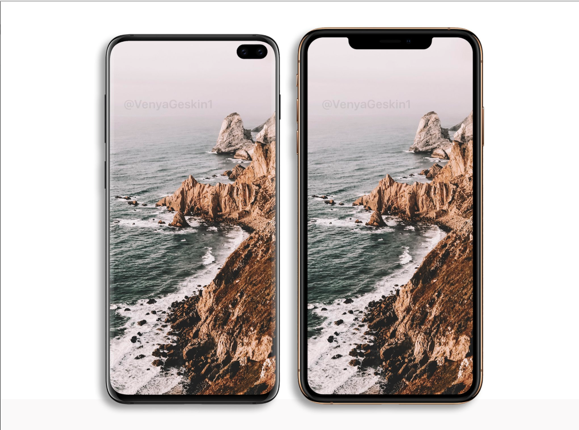 Samsung Galaxy S10+ VS Apple iPhone XS Max Compare Renderings